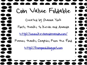 This fun foldable is an engaging way to review coin values. Students