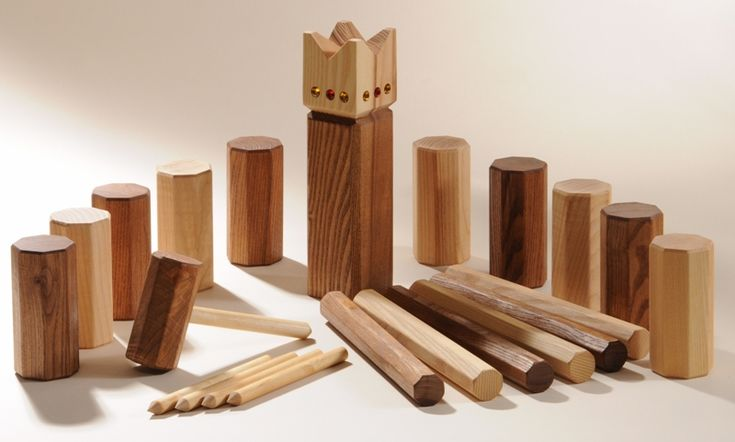 Kubb - a medieval game! The pieces aren't that hard to make and kids/teens would probably have a fun time playing