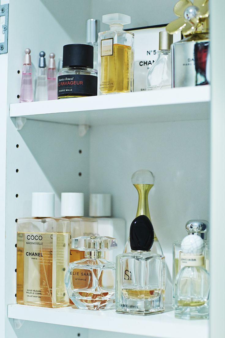"""""""Fragrances to me are kind of like a book. A way to remember chapters in my life."""" Click here to find out all of Elle Halliwell's favourite fragrances. #Beauticate. #ElleHalliwell #DailyTelegraph #fashionjournalist #TV #radio #fragrance #perfume #scents #Balenciaga #GiorgioArmani #Chanel"""