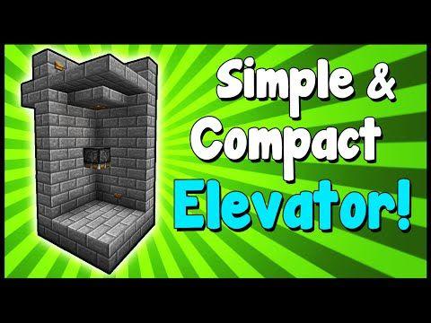 Simple & Compact Elevator! - Minecraft Tutorial - YouTube