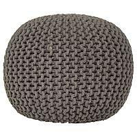 George Home Charcoal Knitted Pouffe | Sofas & Armchairs | ASDA direct