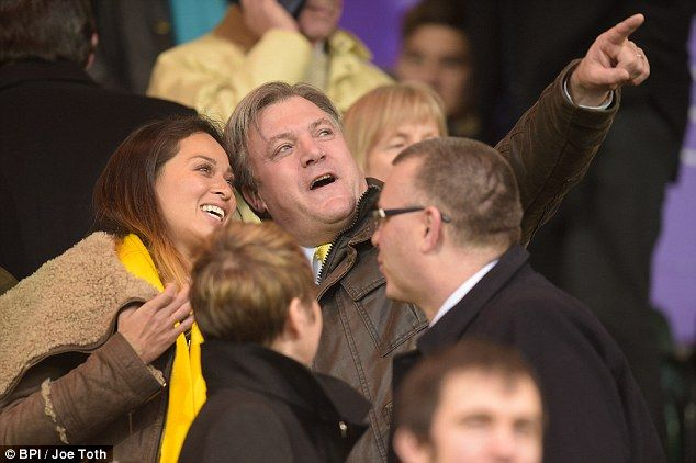 That's not the glitter ball! Ed Balls and Katya Jones appear to have remained firm friends since Strictly Come Dancing, as they headed to a football match together in Norwich on Saturday
