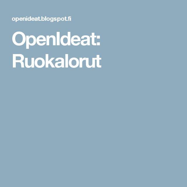 OpenIdeat: Ruokalorut