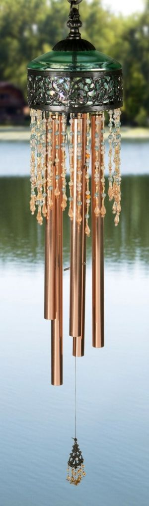 Sage Beads Victorian Wind Chime by Celine forcier