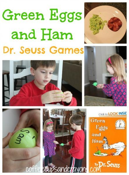 Green Eggs and Ham Dr. Seuss Games and Activities