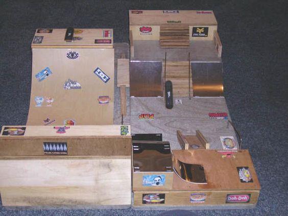 Scott S Homemade Tech Deck Skatepark Wolf Tech Deck