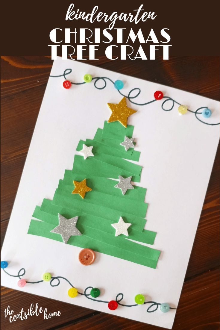 Kindergarten Christmas Tree Craft The Censtible Home Kindergarten Christmas Crafts Christmas Kindergarten Christmas Tree Crafts