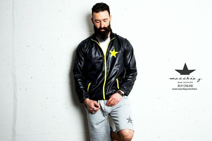 Star Fluo Nylon Wind Runner Jacket
