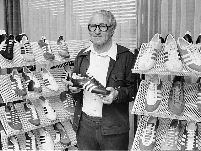 Adolf Dassler in Adidas Sneakers