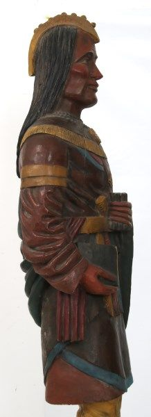 Buy online, view images and see past prices for Leaning Indian Cigar Store Trade Figure. Invaluable is the world's largest marketplace for art, antiques, and collectibles.