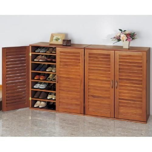 21 Pair Wooden Shoe Cabinet with Adjustable Shelves   Buy Shoe Cabinets