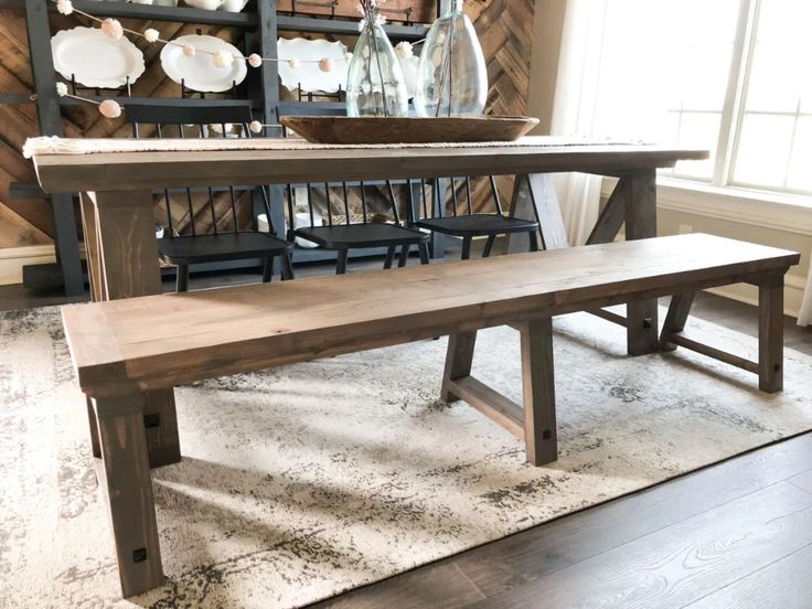 DIY Fancy V Dining Table (With images)   Dining bench diy