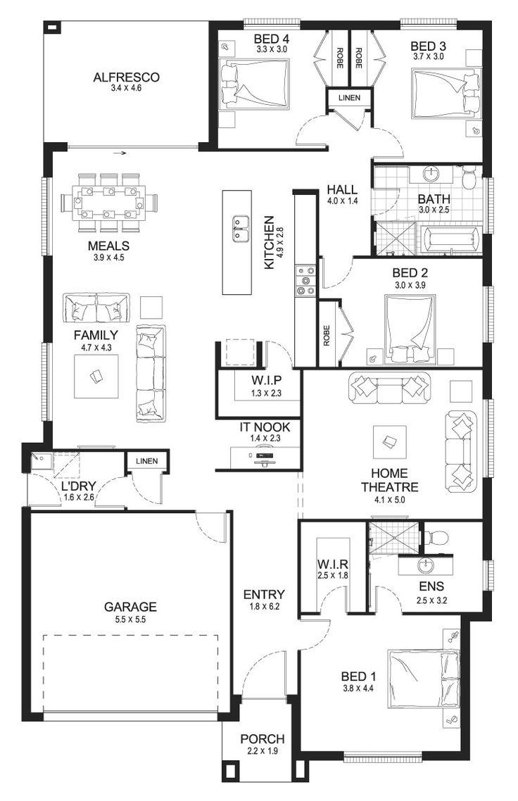 Opal 27 - Single Level - Floorplan by Kurmond Homes - New Home Builders Sydney NSW