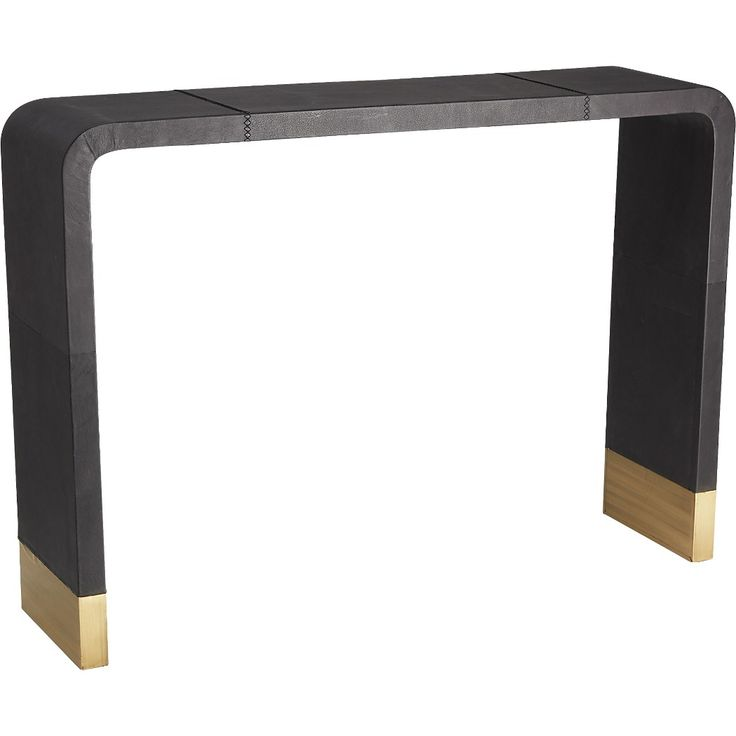 Shop Tyler Leather Console Table With Stitch Detail. Console Takes A U Turn  As