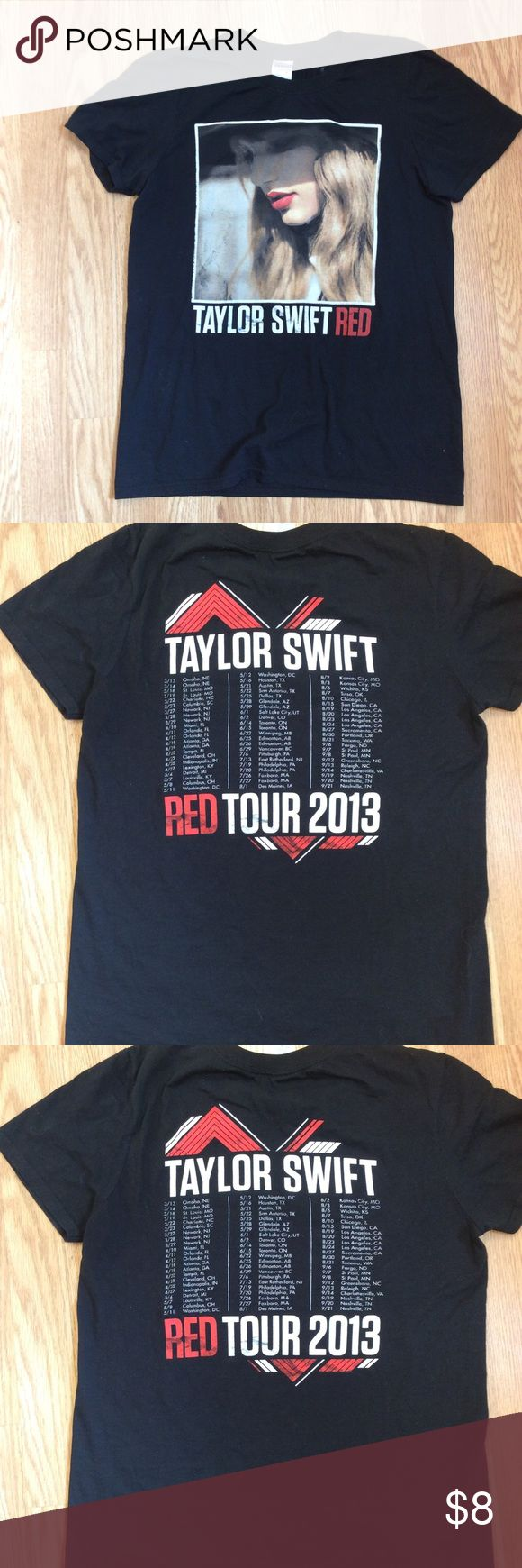 Taylor Swift 2013 Red Tour concert T-shirt Taylor Swift 2013 Red Tour shirt has been washed once or twice is in great condition.  Questions???  Please ask Gildan Tops Tees - Short Sleeve