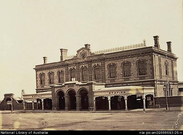 Sweet, Samuel White, 1825-1886. Railway Sta. [Station], Adelaide [picture].