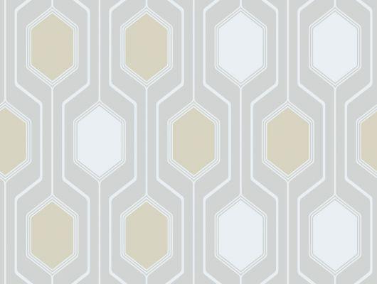 Современные обои для коридора в виде геометрических фигур