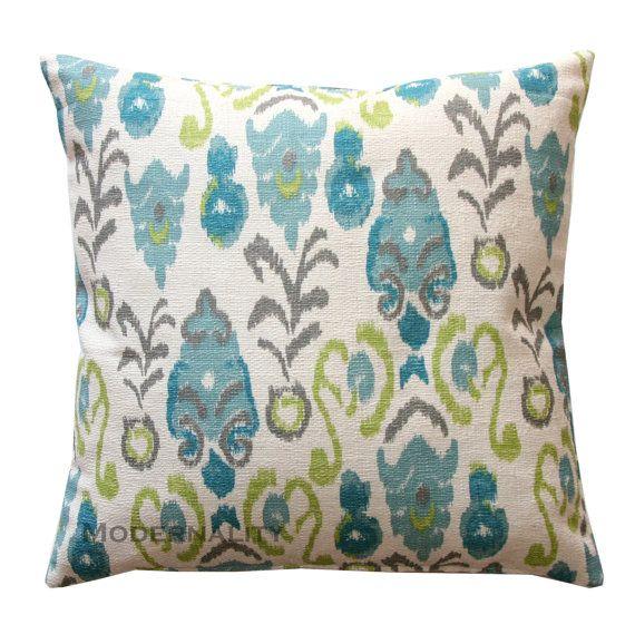 OCTOBER SALE- Ikat Burlap Pillow- Premier Prints Frost Neda Birch Decorative Pillow Cover- All Sizes- Hidden Zipper Closure
