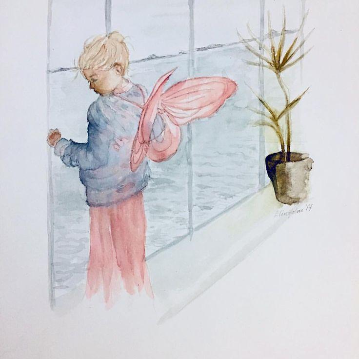 Little fairy (ElinArt - October 2017) watercolors