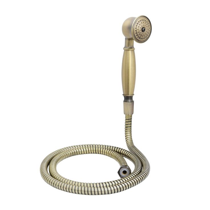 ENKI Traditional Victorian Antique Bronze Hand Shower Head with Hose Replacement