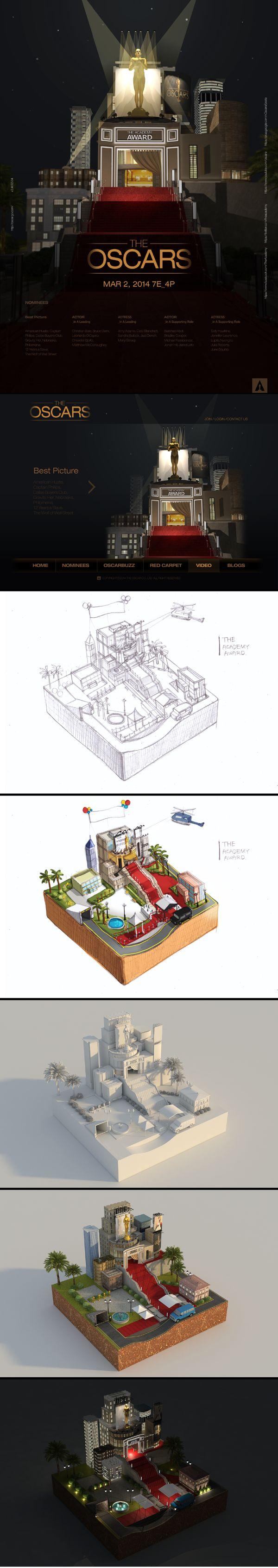 THE OSCARS by Eunjeong Yang, via Behance