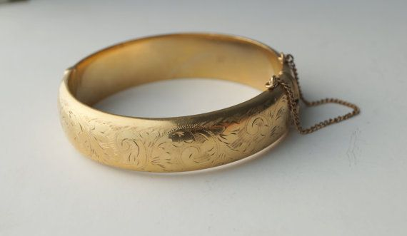 Antique Gold Bangle Bracelets