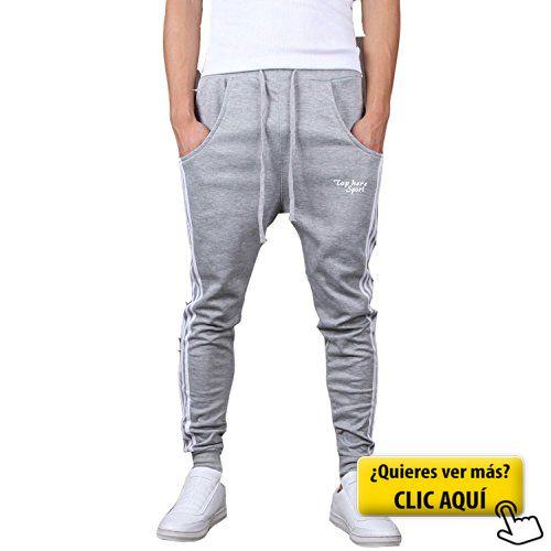 Minetom Hombres Moda Pantalones Hippie Harén... #chandal