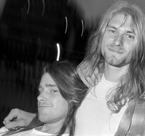 """d-a-z-e-d-and-confused: """" Kurt Cobain and Chad Channing, awn. """""""