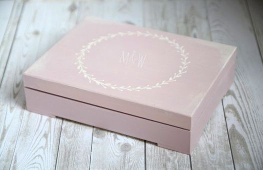 Pudełko na obrączki PINK RUSTIC