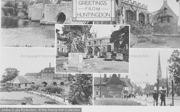 Huntingdon, Composite c.1955, from Francis Frith