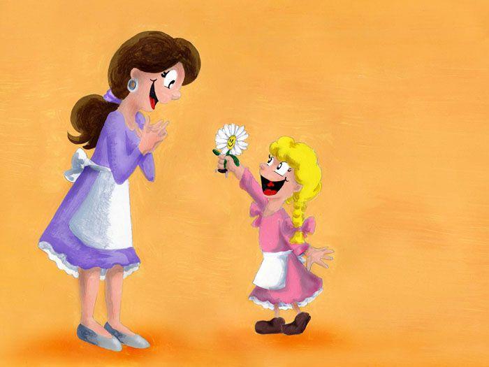 Belli und die Rosen - Muttertag (Illustration für Kinderbuch) mehr auf www.comicwald.de