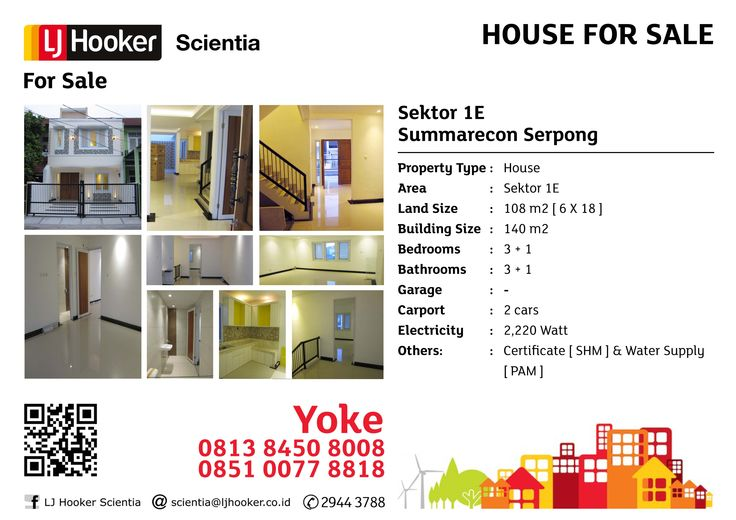 HOUSE FOR SALE: Sektor 1 E @ Summarecon Serpong
