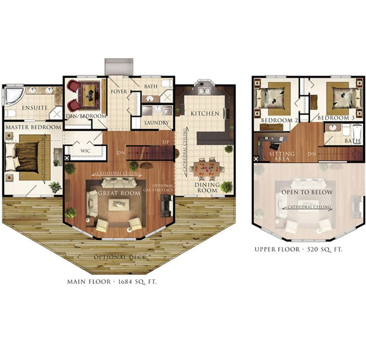 I wish I had access to a program that let me make floor plans like this.