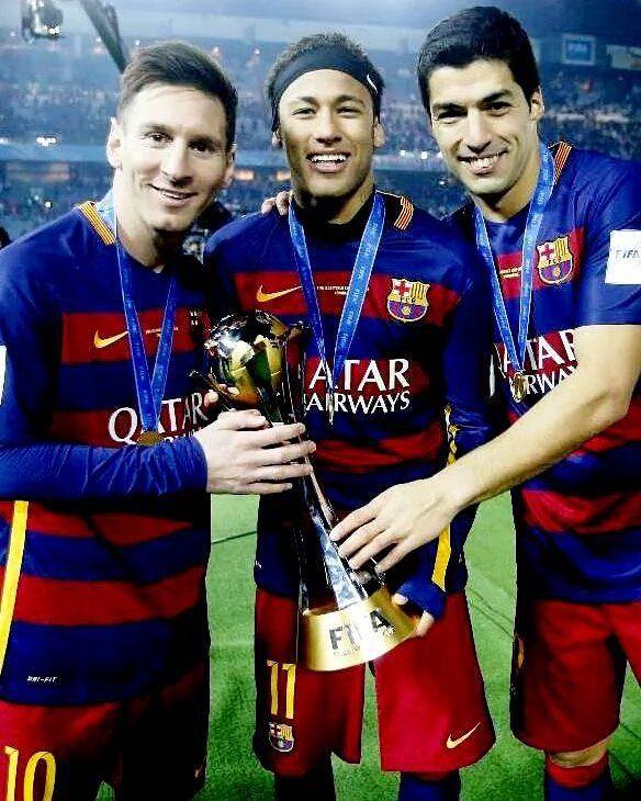 Goles de la MSN desde su 1er partido juntos (2014): -Messi 61  -Suárez 49  -Neymar 45  155 goles y 5 títulos nada más..