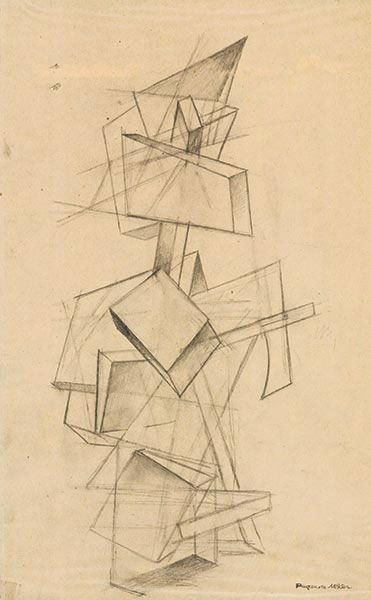 Alexander Rodchenko Architectonic Composition with Solid Elements 1919