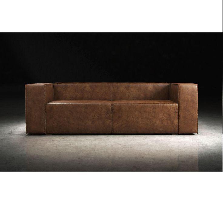 Sectional Sofa Brazilian Leather Sleeper Sofa Aged Whisky
