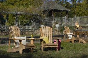 Teak adirondack chairs by Arthur Lauer #madeinUSA