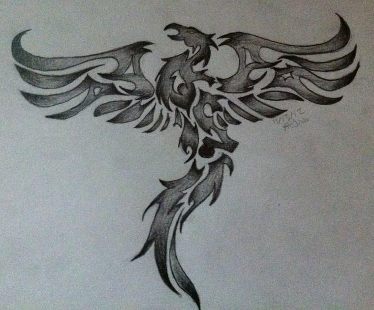Tribal Phoenix 2 by Drawing-in-pencil | [ theme ] mystical ...