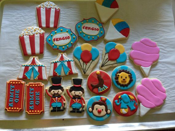 Circus Carnival Collection Sugar Cookies by NotBettyCookies