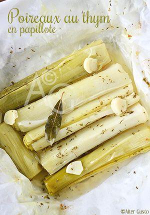 La cuisson des poireaux, en papillote pour des légumes très tendres et très parfumés. A déguster chaud ou froid et à décliner avec d'autres herbes, d'autres parfums. Dans mon cas, c'est déjà prévu.