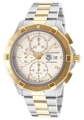 Tag Heuer CAP2120.BB0834 Watches,Men's Aquaracer Automatic Chrono Light Champagne Textured Dial Two Toned IP Stainless Steel, Men's Tag Heue...