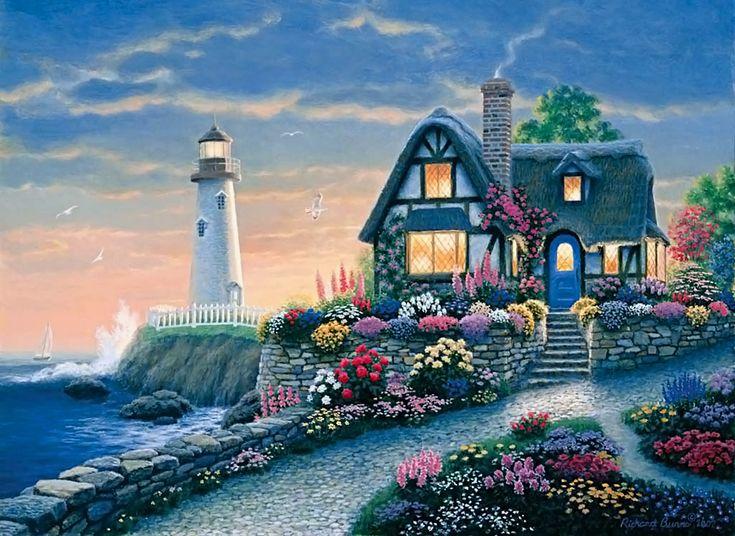 Красивые картинки море домик