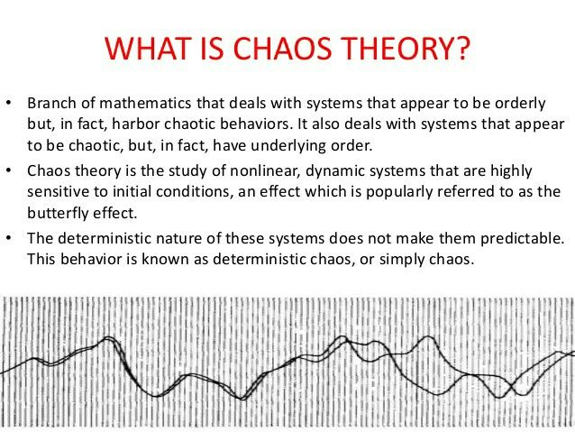 Chaos Theory - a part of everyones life!!