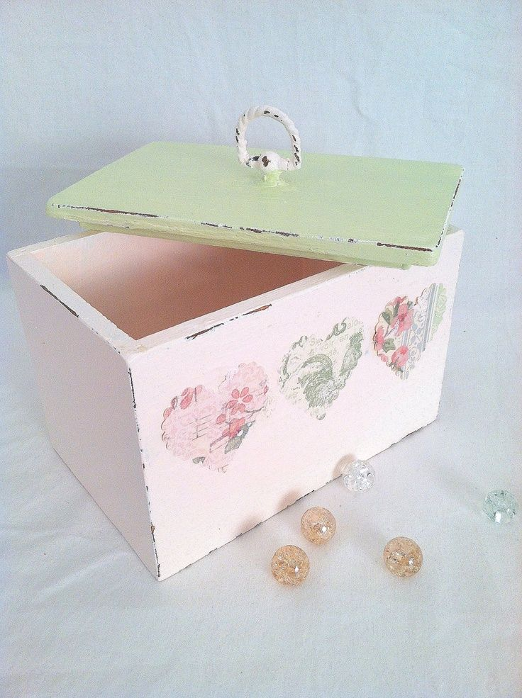 99 best cajas boxes boite scatola images on pinterest for Boite shabby chic