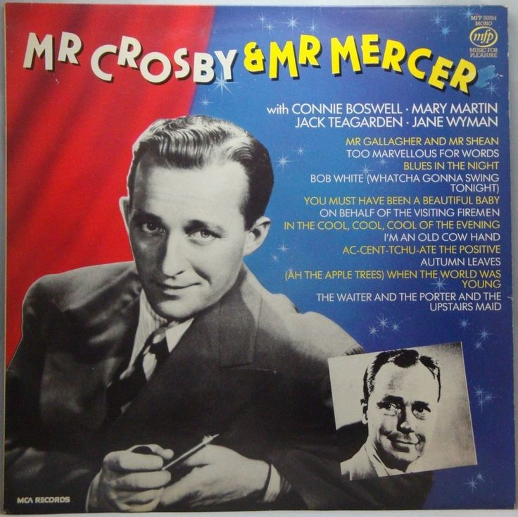 bing crosby mr crosby and mr mercer lp music records albums