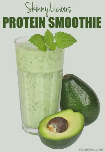 At 162 calories a serving, this SkinnyLicious Protein Smoothie is a great low calorie snack!  #protein #smoothie #recipe