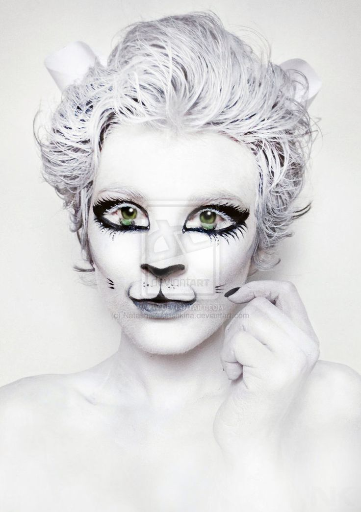 skeleton cat makeup - Google Search