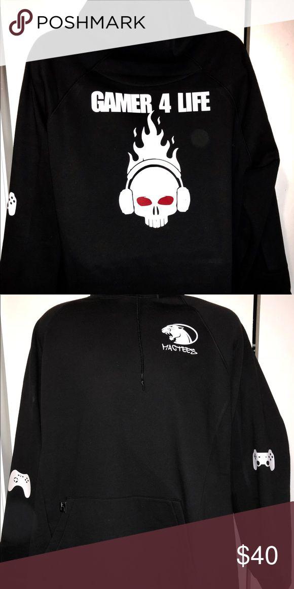 """Graphic Hoodie UNISEX """"Gamer 4 Life"""" Graphic Hoodie. Shirts Sweatshirts & Hoodies"""