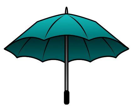 Nice illustration of a cartoon umbrella.