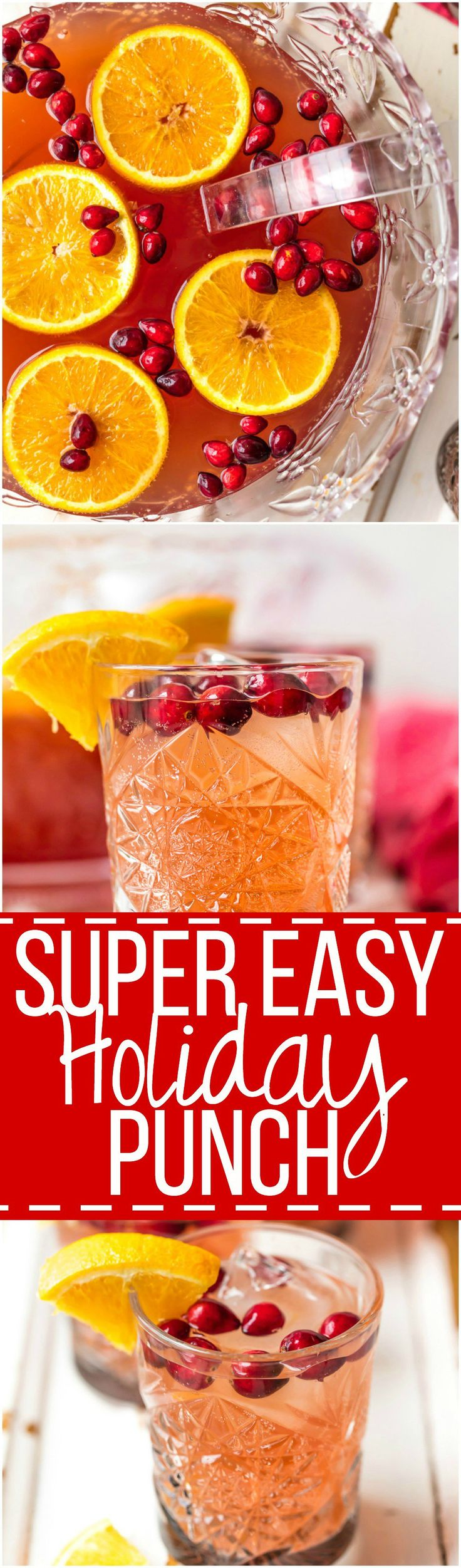 Easy Holiday Punch | The Cookie Rookie | Bloglovin'